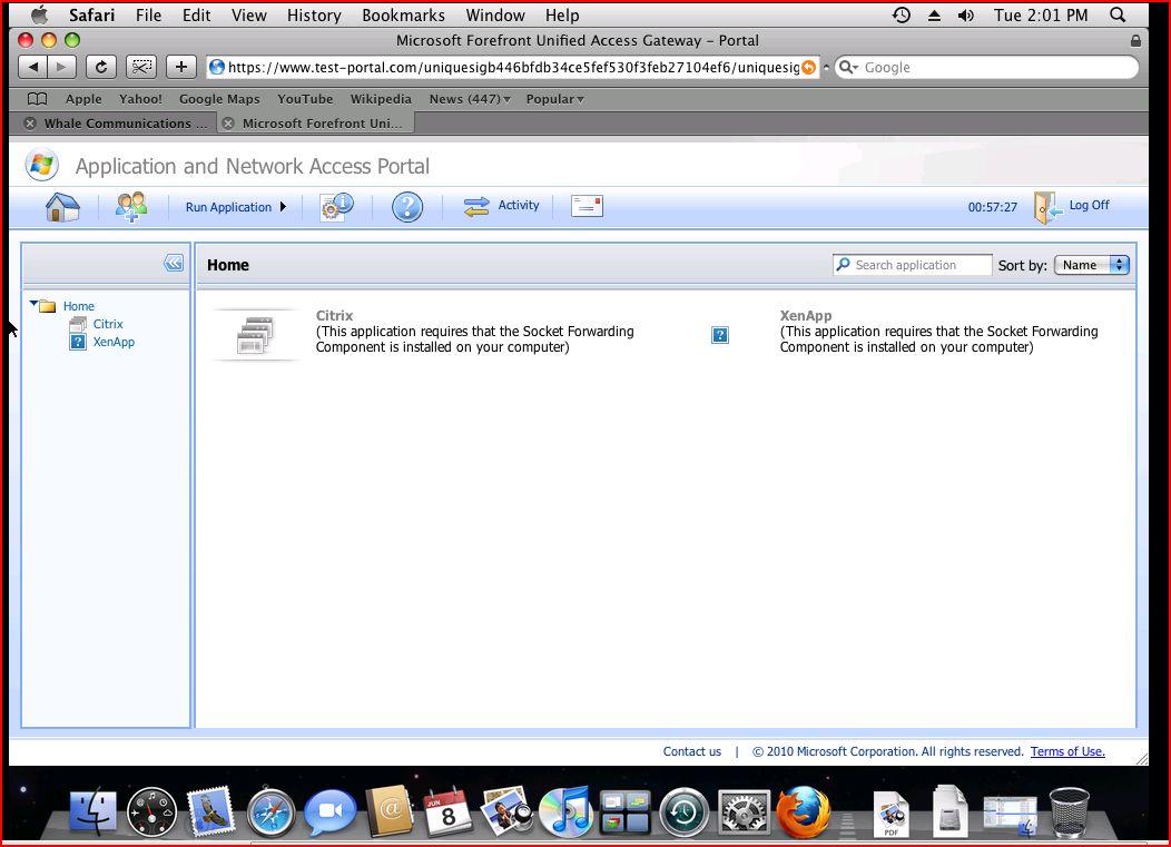 Accessing Citrix Presentation Server in Mac machine-Figure 3